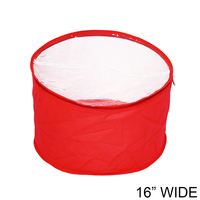 Collapsible Fabric Hat Bag With Clear Vinyl Top And Handle Hatbagrd