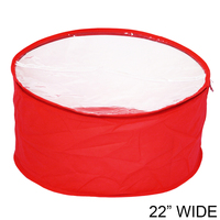 Large Collapsible Fabric Hat Bag With Clear Vinyl Top And Handle Hatbagrdlg