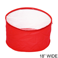 Collapsible Fabric Hat Bag With Clear Vinyl Top And Handle Hatbagrdm
