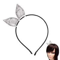 BUNNY EARS STONE HAIR HEAD BAND