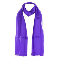 Satin And Chiffon Striped Scarf Hg7000Pu