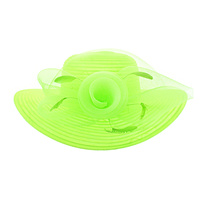 LIME GREEN POPULAR DERBY HAT ROSE CENTER PIECE