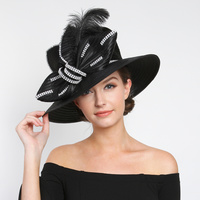 BRAID BOW HAT WITH FEATHER