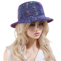 AB JELLY OR METALLIC CHROME STUDDED BRAID HAT
