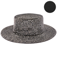 JELLY RHINESTONE FLAT TOP HAT