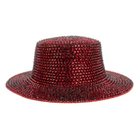AB JELLY RHINESTONE FLAT TOP HAT