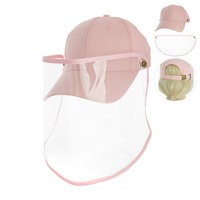 BASEBALL CAP W/REMOVABLE FACE COVER