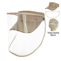 SUN VISOR W/ REMOVABLE FACE COVER