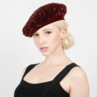SEQUIN FRENCH WINTER FASHION BERET