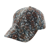 ANIMAL PRINT SPARKLE FABRIC CAP
