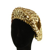 Htc586G Full Sequin French Beret Hat