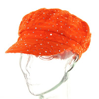Glitter Sparkle Newsboy Hat Htc588Or