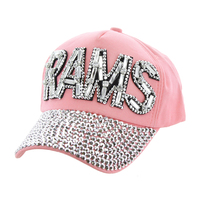 Los Angeles Rams Football Team In Gems On Denim Fashion Baseball Cap Htc673Pk