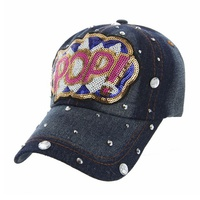 POP! DENIM CAP WITH STUDS