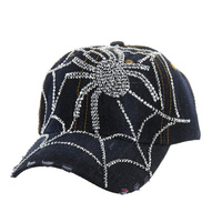 SPIDER STONE DENIM CAP