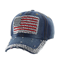 USA FLAG WHITE CAP