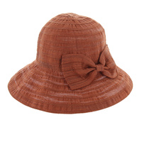 100% COTTON WOVEN HAT W/ LARGE BOW