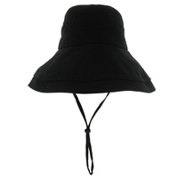 WASHED COTTON BUCKET HAT W/ STRING
