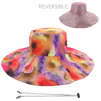 REVERSIBLE TWO TONE WIDE FLOPPY HAT