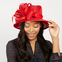 SMALL BRIM DERBY FLAX FABRIC HAT