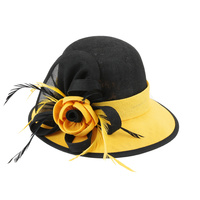 1920S GATSBY LOOP FLAX FABRIC HAT