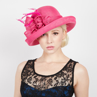 CURVED BRIM ROSE FLAX FABRIC HAT