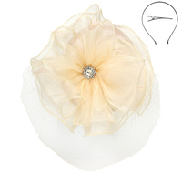 ROUND LACE FASCINATOR W/LOOPY
