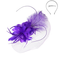 FEATHER HEADBAND W LONG FEATHER