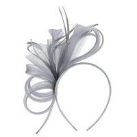 FASCINATOR W/ SIDE LOOPS FEATHERS