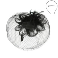 MESH VEIL FEATHERED LOOP FLOWER FAS