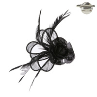 ROSE LOOP FEATHERING PIN FASCINATOR