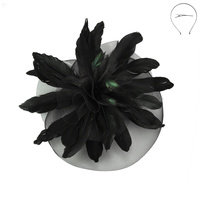 LRG DERBY STATEMENT VEIL FASCINATOR