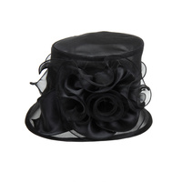 Small Brim Ruffle Flower Crushable Organza Hat Hto1266Pu