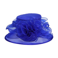 MEDIUM BRIM TWO TONE ORGANZA HAT W/