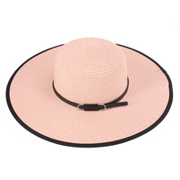 BLACK BRIM COLORFUL FLOPPY HAT