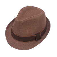NEUTRAL TONE TEXTURED BAND FEDORA