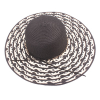 CHAIN BOW PAPER BRAID FLOPPY HAT