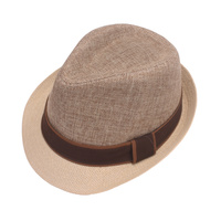 COLOR BLOCKING NEUTRAL TONE FEDORA