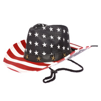 COWBOY USA MERICA FLAG HAT