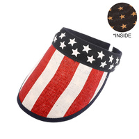 USA AMERICA FLAG STAR VISOR