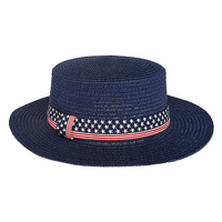 USA AMERICA FLAG STAR FLAT TOP HAT