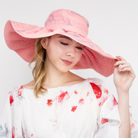 FLOPPY J LO HAT WITH FLORAL PRINT