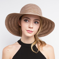 BEACH HAT W/BOW ON SIDE
