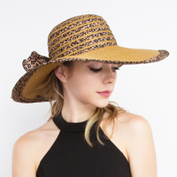 FLOPPY HAT W/CHEETAH PRINT ON EDGES