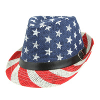 AMERICAN FLAG STARS STRIPES FEDORA