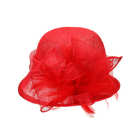 SMALL BRIM LOOP SINAMAY TEA HAT