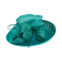 DERBY BOW FEATHER FLAX W SINAMAY