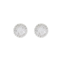 SILVER STUDDED DIAMOND EARRINGS