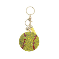 RHINESTONE BASEBALL KEY CHAIN