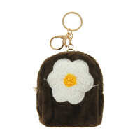 FLOWER BACKPACK KEYCHAIN